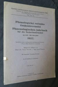 náhled knihy - Phenologická ročenka československá za rok 1937; Phaenologisches Jahrbuch für die Tschechoslowakei für das Jahr 1937