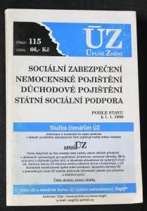 náhled knihy - Sociální zabezpečení, Nemocenské pojištění, Důchodové pojištění, Státní sociální podpora