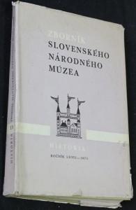náhled knihy - Zborník slovenského národného múzea: História 13