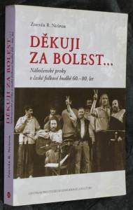 náhled knihy - Děkuji za bolest... : náboženské prvky v české folkové hudbě 60.-80. let