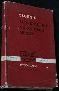 náhled knihy - Zborník slovenského národného múzea: Etnografia, Ročník 1970