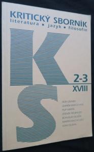 náhled knihy - Kritický sborník (literatura-jazyk-filosofie): ročník  XVII, č. 2-3