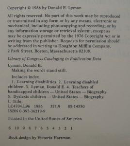 antikvární kniha Making the Words Stand Still, 1986