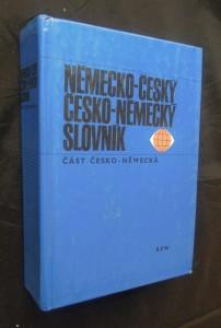 náhled knihy - Německo-český a Česko-německý slovník (část Česko-německá)