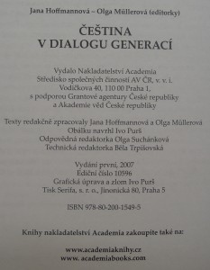antikvární kniha Čeština v dialogu generací, 2007