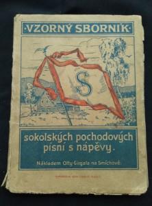 náhled knihy - Vzorný sborník sokolských pochodových písní s nápěvy (Obr, 80. s)