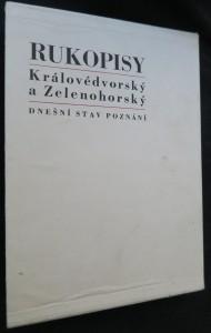 náhled knihy - Rukopisy královédvorský a zelenohorský : Dnešní stav poznání : [Sborník studií. 1. a 2. kniha]