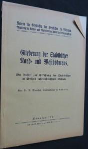 náhled knihy - Gliederung der Stadtbücher Nord- und Westböhmens