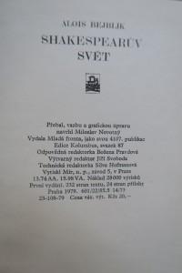 antikvární kniha Shakespearův svět, 1979