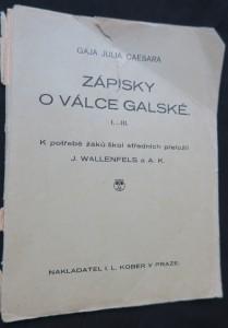 náhled knihy - Gaja Julia Caesara Zápisky o válce galské. Kniha I.- III.