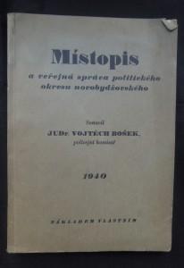 náhled knihy - Místopis a veřejná správa politického okresu novobydžovského