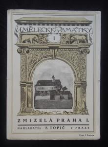 náhled knihy - Umělecké památky: zmizelá Praha I.