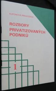 náhled knihy - Kupónová privatizace: Rozbory privatizovaných podniků