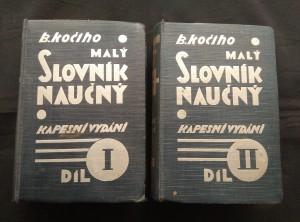 náhled knihy - B. Kočího malý slovník naučný, kapesní vydání I, II (A6, Ocpl, 2128 s.)