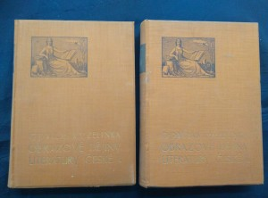náhled knihy - Obrazové dějiny literatury české I, II (A4, Ocpl, 414 a 556 s.)