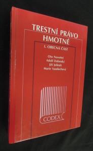 náhled knihy - Trestní právo hmotné I. (obecná část) a II. (zvláštní část)