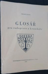 náhled knihy - Glosář pro rodopisce a kronikáře