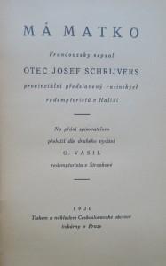 antikvární kniha Má matko, 1930