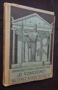 náhled knihy - Dionysiův neb Longinův spis