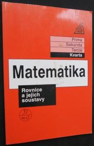 náhled knihy - Matematika : Rovnice a jejich soustavy