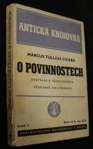 náhled knihy - O povinnostech, rozprava o třech knihách věnovaná synu Markovi