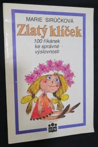 náhled knihy - Zlatý klíček : 100 říkanek ke správné výslovnosti