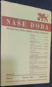 náhled knihy - Naše doba: revue pro vědu, umění a život sociální (ročník 48, číslo 9, červen 1941)