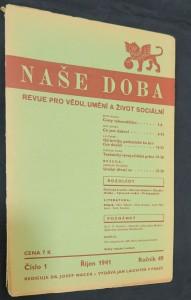 náhled knihy - Naše doba: revue pro vědu, umění a život sociální (ročník 49, číslo 1, červen 1941)