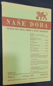 náhled knihy - Naše doba: revue pro vědu, umění a život sociální (ročník 49, číslo 2, červen 1941)