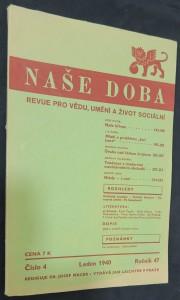 náhled knihy - Naše doba: revue pro vědu, umění a život sociální (ročník 47, číslo 4, leden 1940)