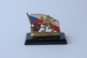náhled knihy - těžítko ČSR, vlajka, český lev