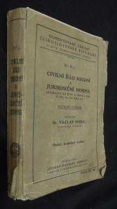 náhled knihy - Civilní řád soudní a jurisdikční norma (zákony ze dne 1. srpna 1895, č. 110, 111, 112, 113 ř. z.)