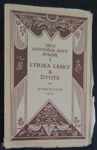 náhled knihy - Lyrika lásky a života (výtisk číslo 355)