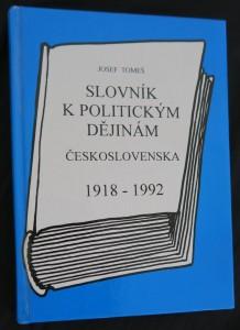 náhled knihy - Slovník k politickým dějinám Československa 1918-1992