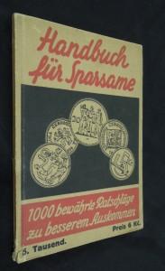 náhled knihy - Handbuch für Sparsame