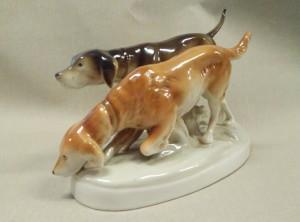 náhled knihy - Royal Dux sousoší, lovečtí psi