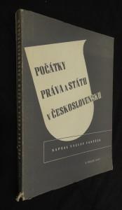 náhled knihy - Počátky práva a státu v Československu