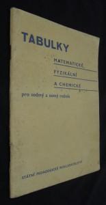 náhled knihy - Tabulky matematické, fyzikální a chemické tabulky pro sedmý a osmý ročník