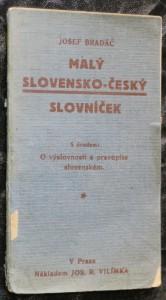 náhled knihy - Malý slovensko-český slovníček
