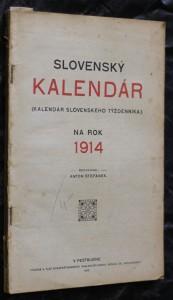 náhled knihy - Slovenský kalendár (kalendár slovenského týždenníka) na rok 1914