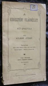 náhled knihy - A keresztény világnézlet.