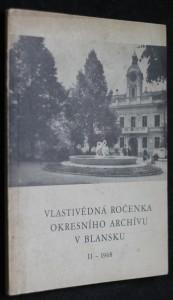 náhled knihy - Vlastivědná ročenka okresního archívu v Blansku II - 1968