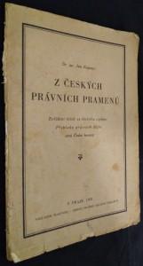 náhled knihy - Z českých právních pramenů