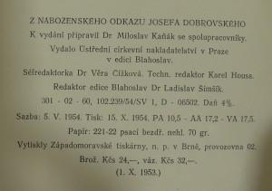 antikvární kniha Z náboženského odkazu Josefa Dobrovského, 1954