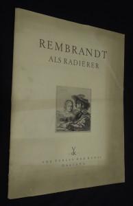 náhled knihy - Rembrandt als Radierer : 16 Lichtdrucke