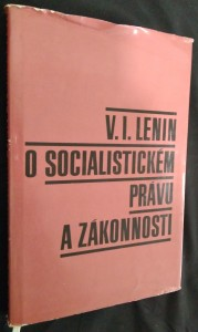 náhled knihy - V.I. Lenin o socialistickém právu a zákonnosti