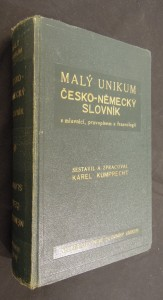 náhled knihy - Malý unikum : Německo-český slovník s mluvnicí, pravopisem a frazeologií