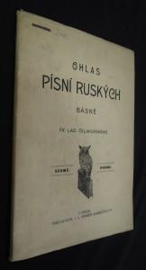 náhled knihy - Ohlas písní ruských Frant. Ladislava Čelakovského Ohlas písní ruských Ohlas písní ruskýc