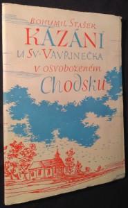 náhled knihy - Kázání u Sv. Vavřinečka v osvobozeném Chodsku