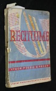 náhled knihy - Recitujme : Výbor poesie a prózy k přednášení na školách II. stupně